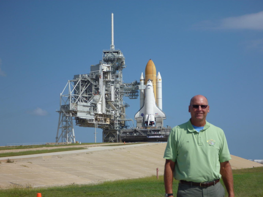 At the pad before the last launch of Discovery