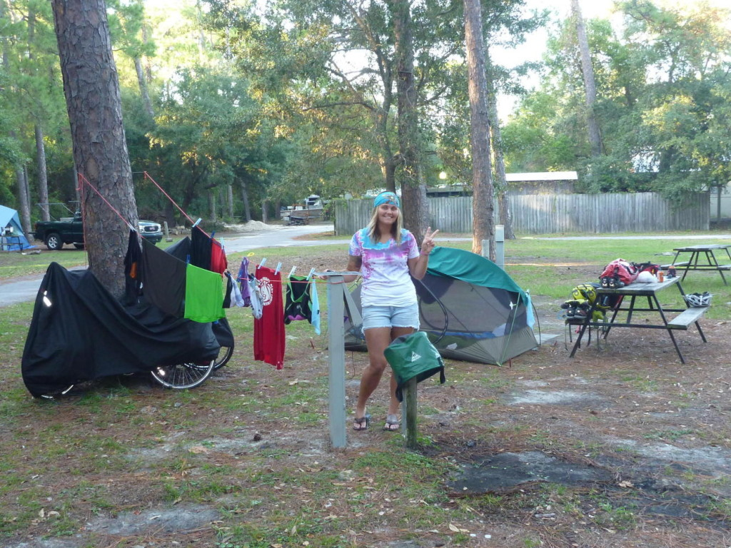 Camp set up, showered, laundry done, and ready for dinner. In about 1 1/2 hours.