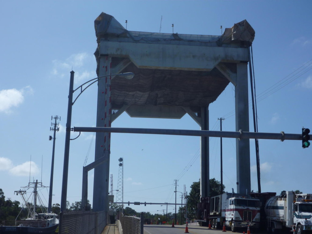 A very large drawbridge.