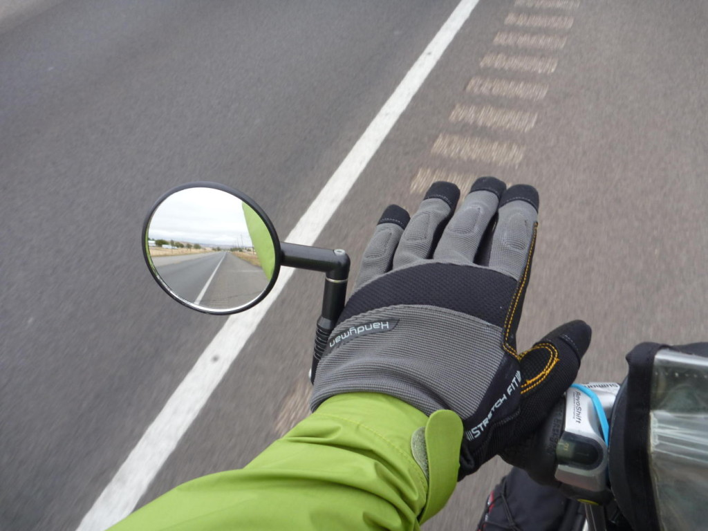We are sporting new warm gloves from a local hardware store.