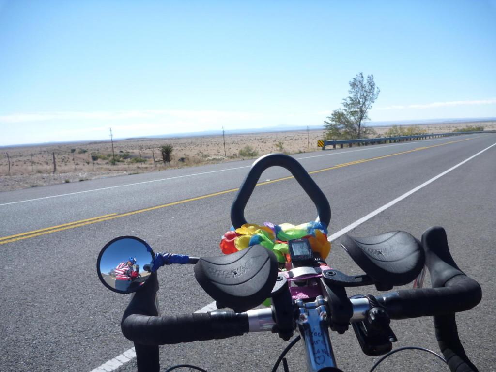 A view from Jocelyn's bike.