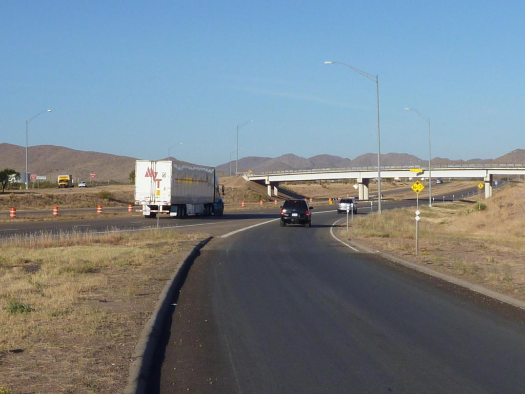 Entering I-10 at Van Horn.