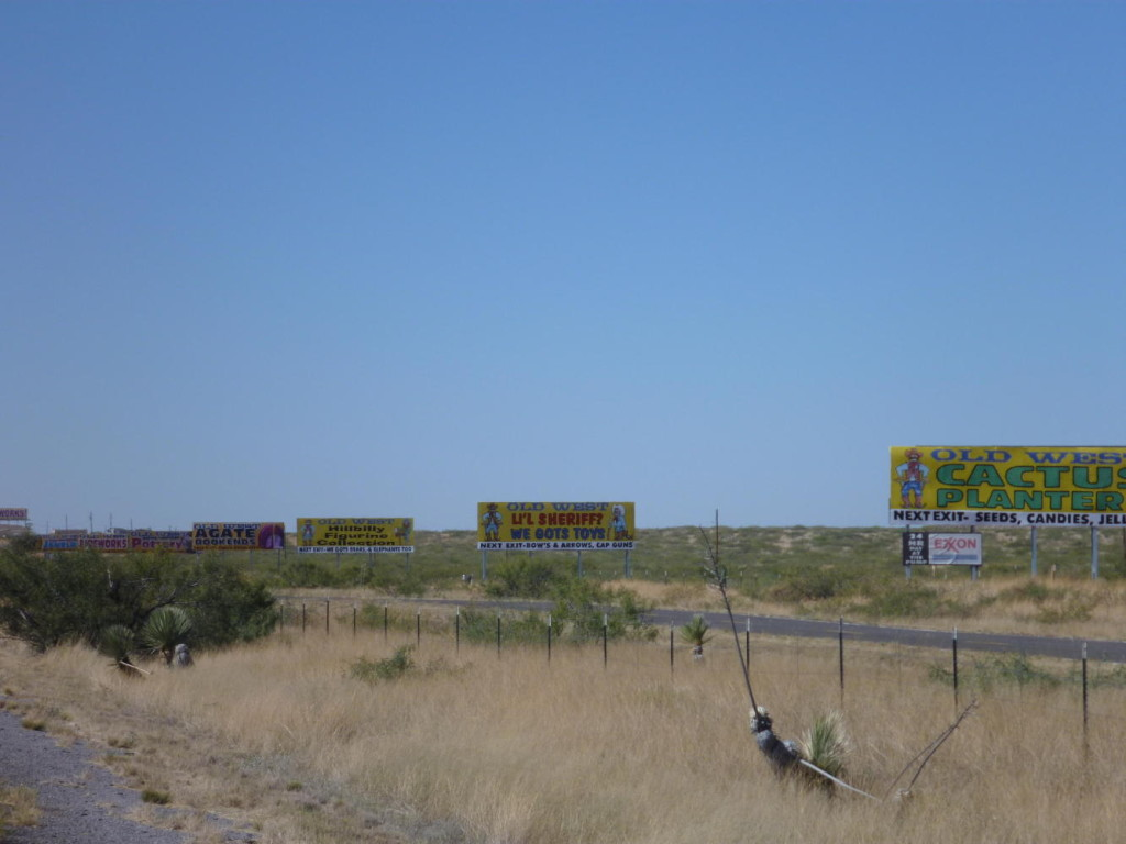 You know you are in the west when all the billboards appear.
