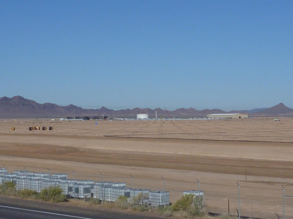 A solar project west of Gila Bend.