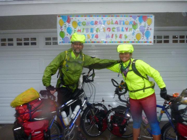 At the completion of our Southern Tier ride in San Diego, California November 2011. We finished in a downpour!