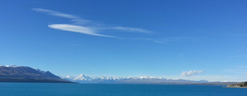 Lake Pukaki and Mt. Cook.