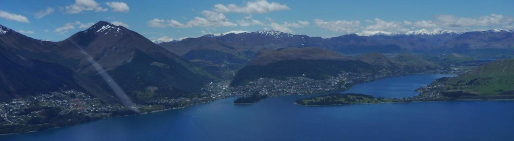 Queenstown on Lake Wakatipu.