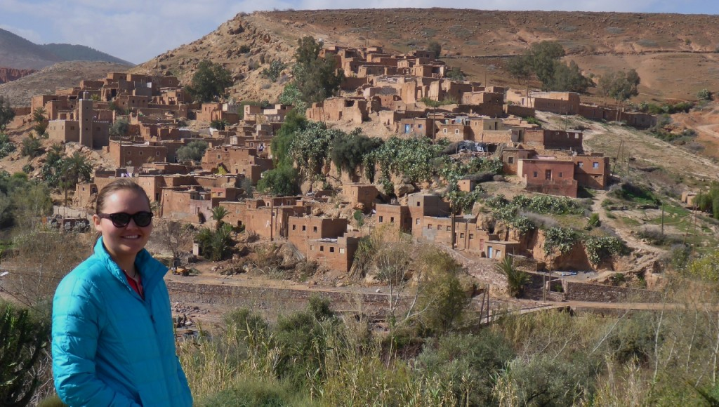 A typical Atlas Mountain Berber village.