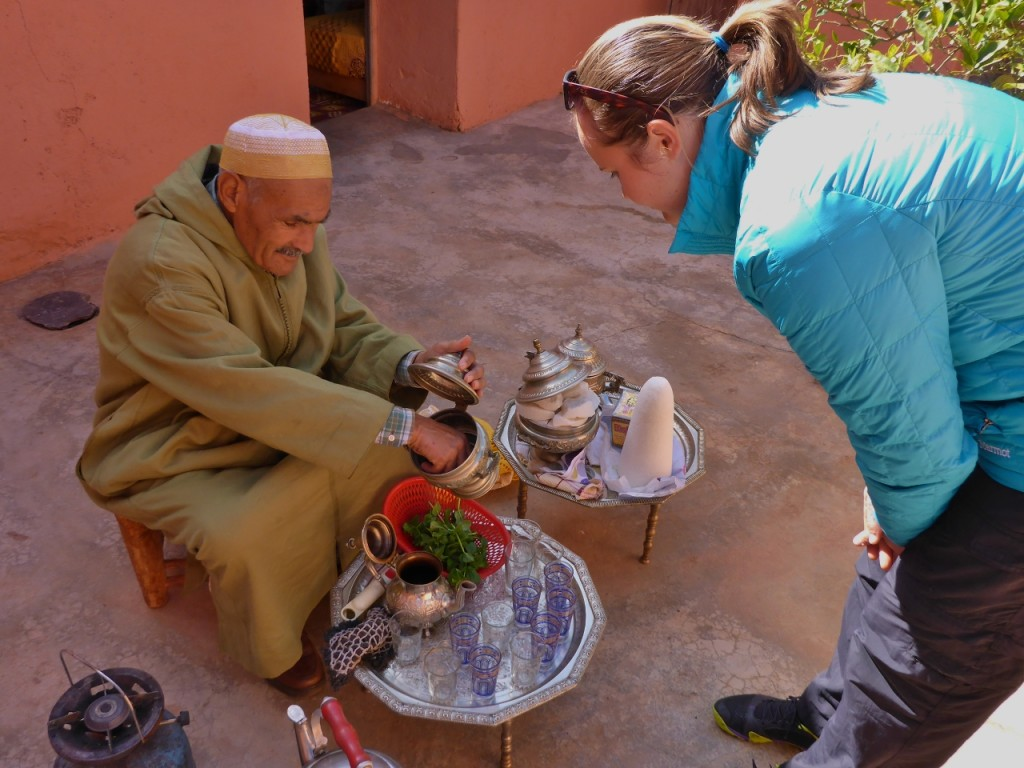 This gentleman made us mint tea and his wife cooked tapa (bread).