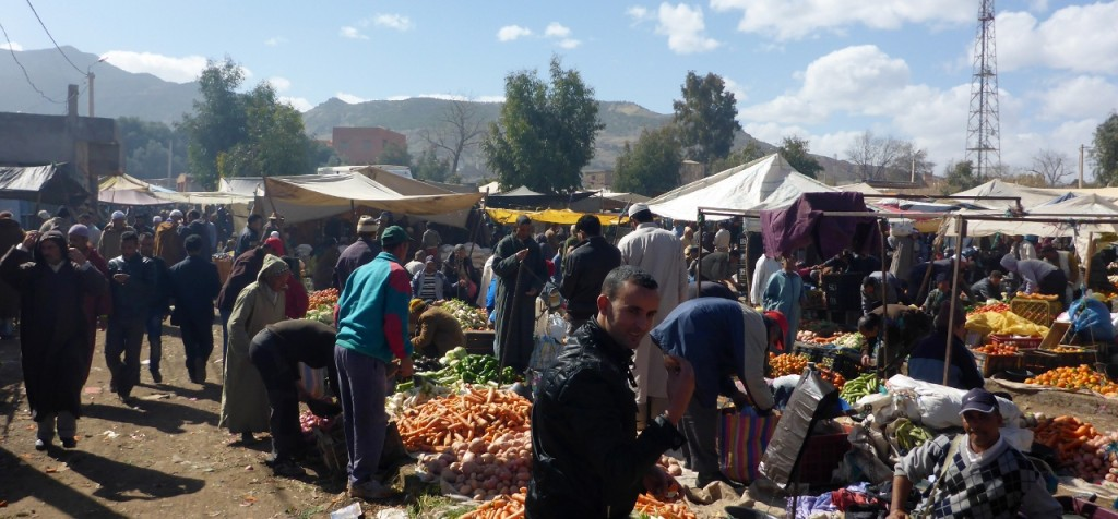 a Saturday Berber (indigenous North Africans) market day. Very fun.