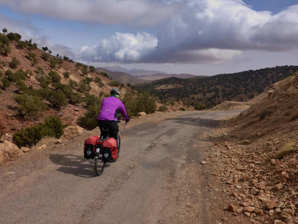 Riding the Atlas Mountains.
