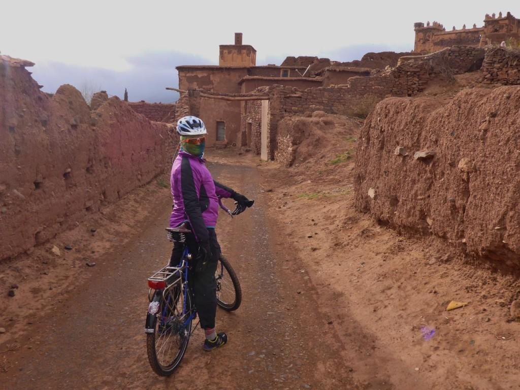 Riding into the 17th century Kasbah Telouet.