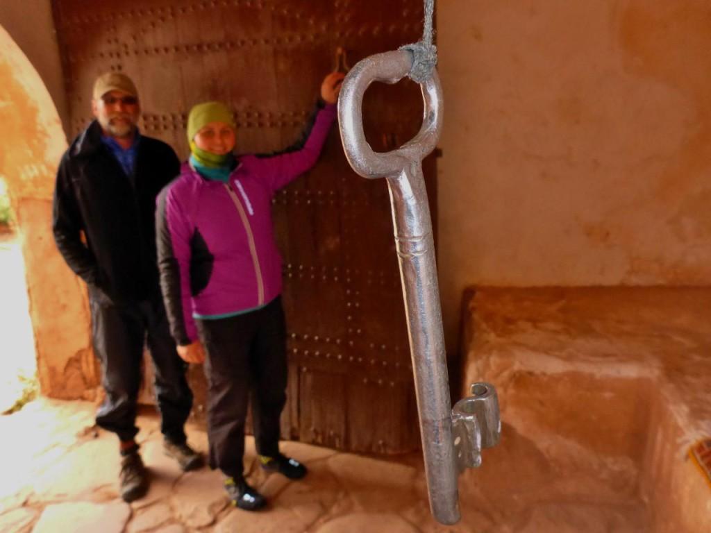 The front door key of Kasbah Telouet.