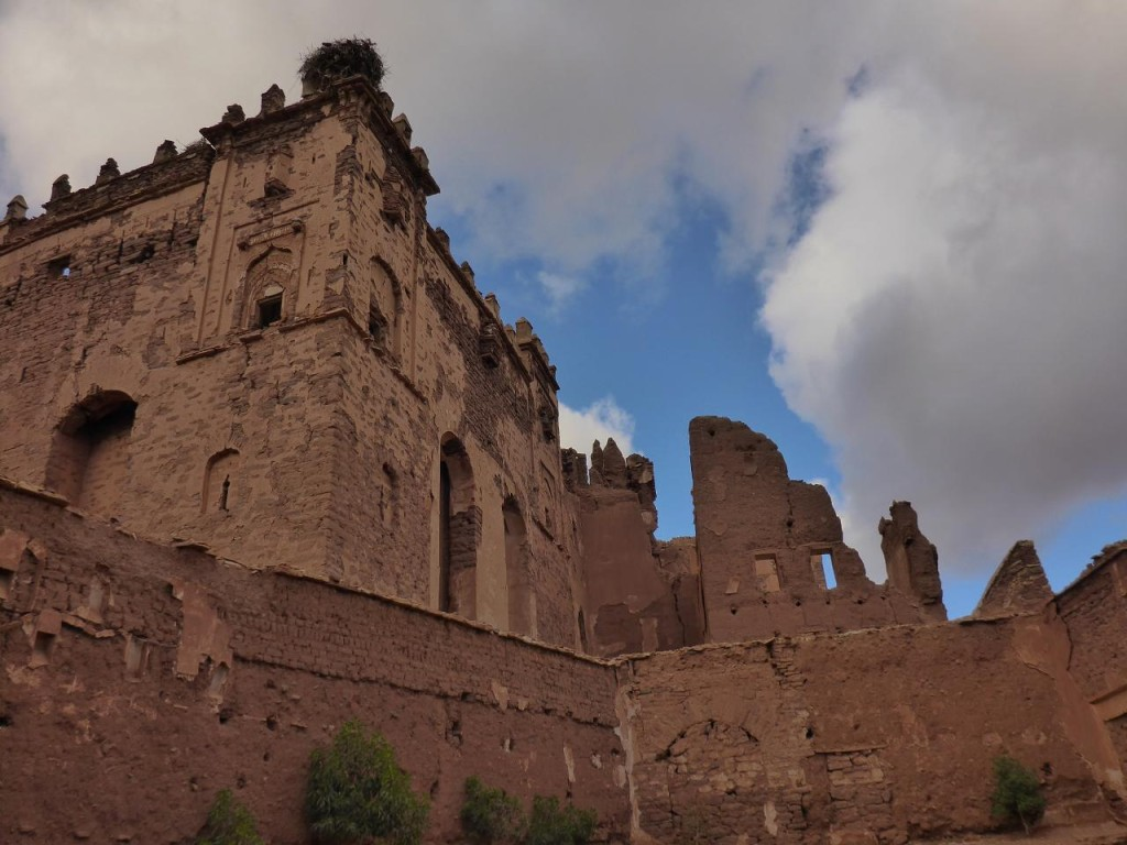 Kasbah Telouet built in the 17th century. It was a stopping point for caravans heading to the Sahara Desert.