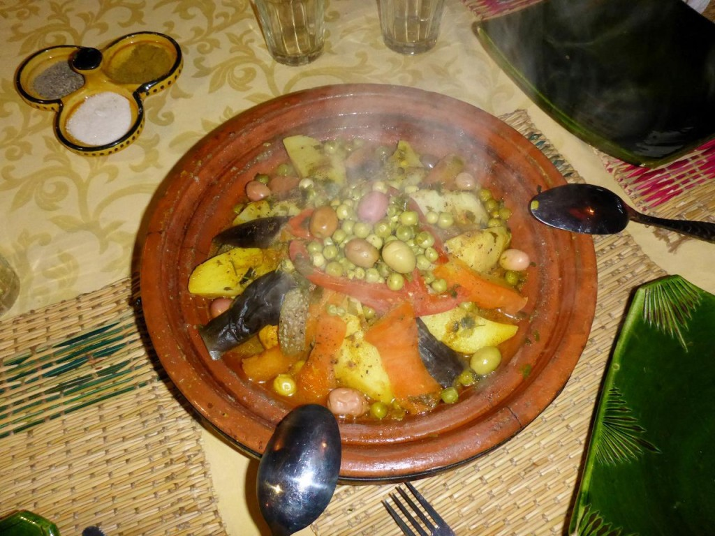 Tagine - A typical Moroccan meal.