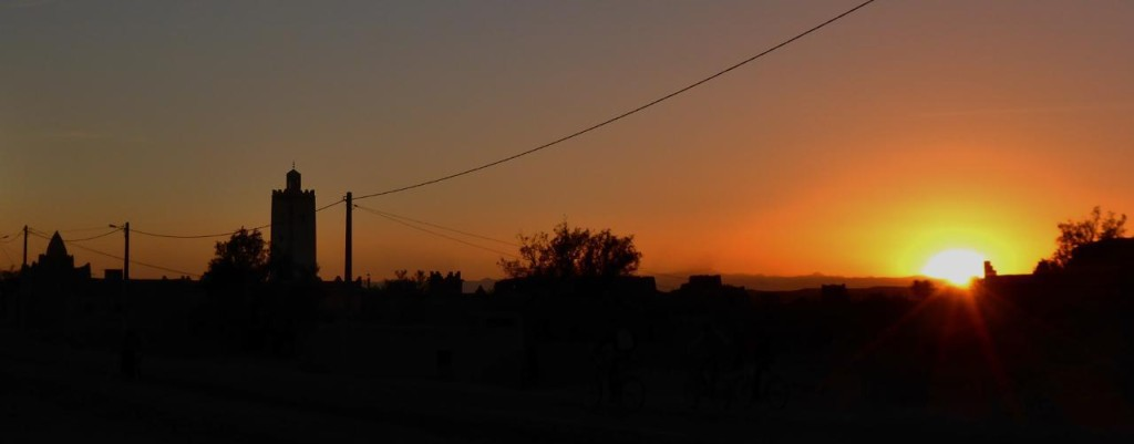 A Moroccan sunset.