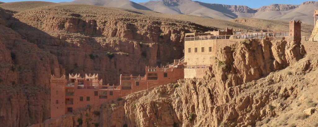 A beautiful Kasbah high atop the Dades River Gorge.