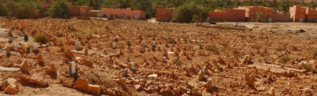 A Moroccan cemetery.