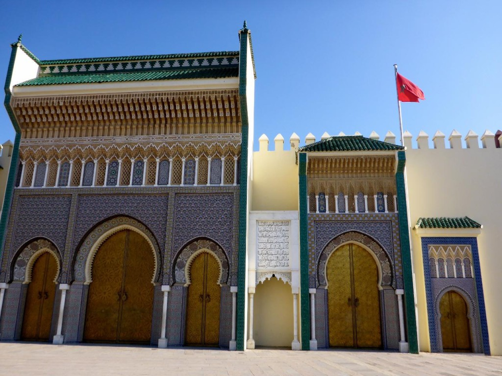 The 9th century ancient palace in Fez.