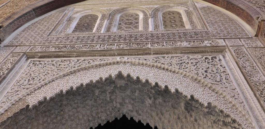 Beautiful art work of a university inside the Medina.