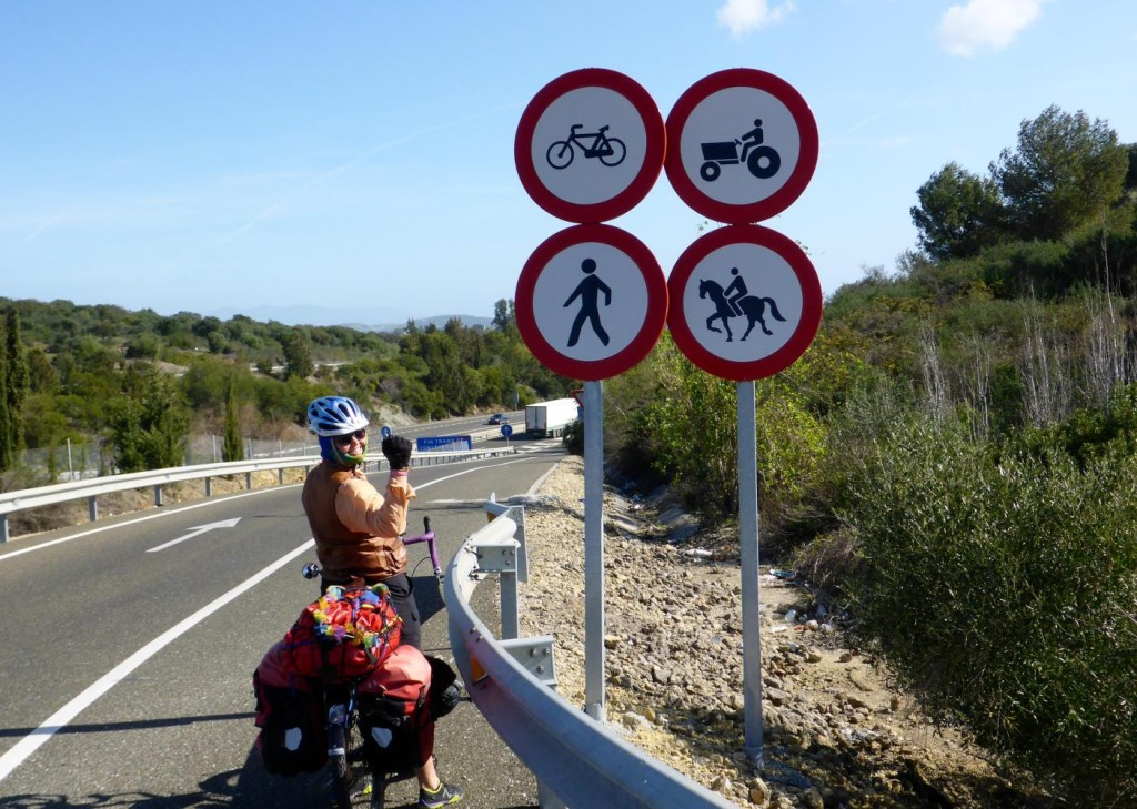 Bikes, tractors, walkers and even horses are allowed on this road.
