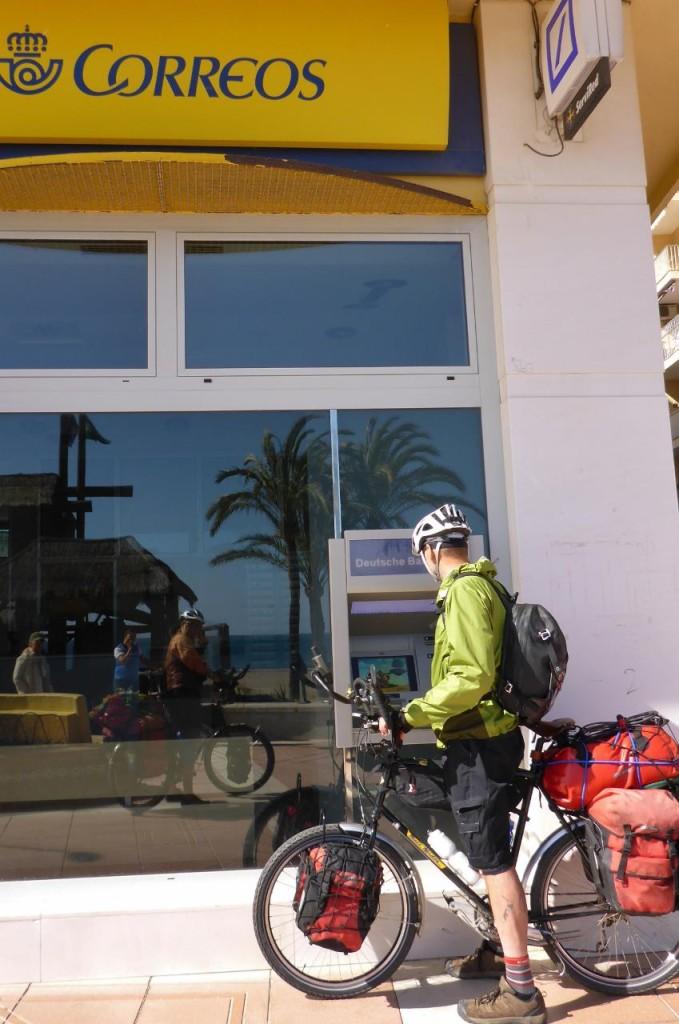 Biker friendly ATM. Never pass up an opportunity to get cash!