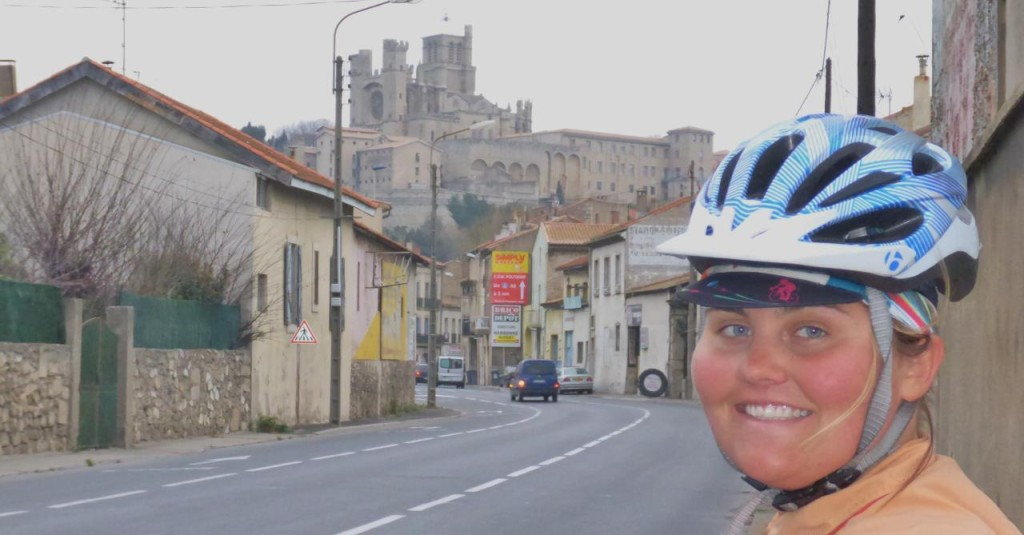 Riding into Beziers we saw a huge cathedral.