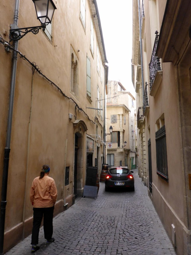 The streets are narrow.