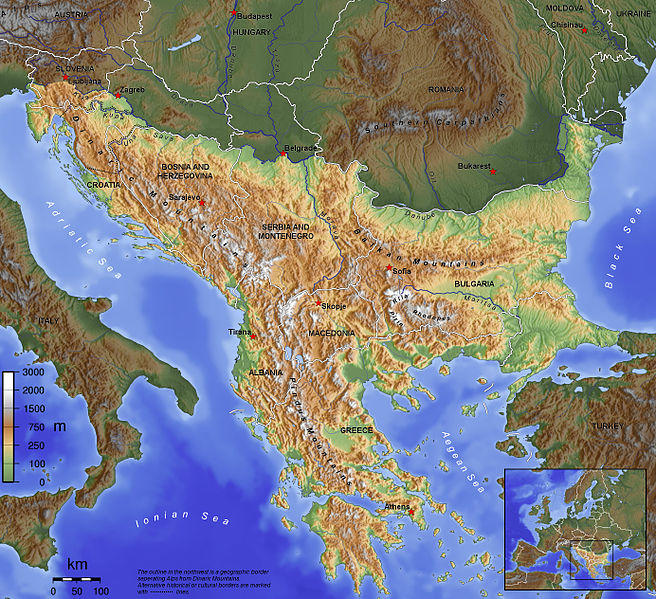 The Balkan Peninsula.
