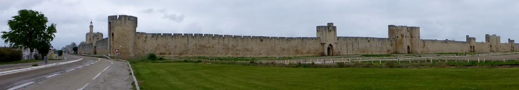The 12th century walled town of Aigues-Mortes.
