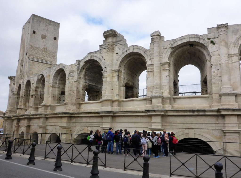 In the ancient city of Arles we discovered this 1st century Roman arena.