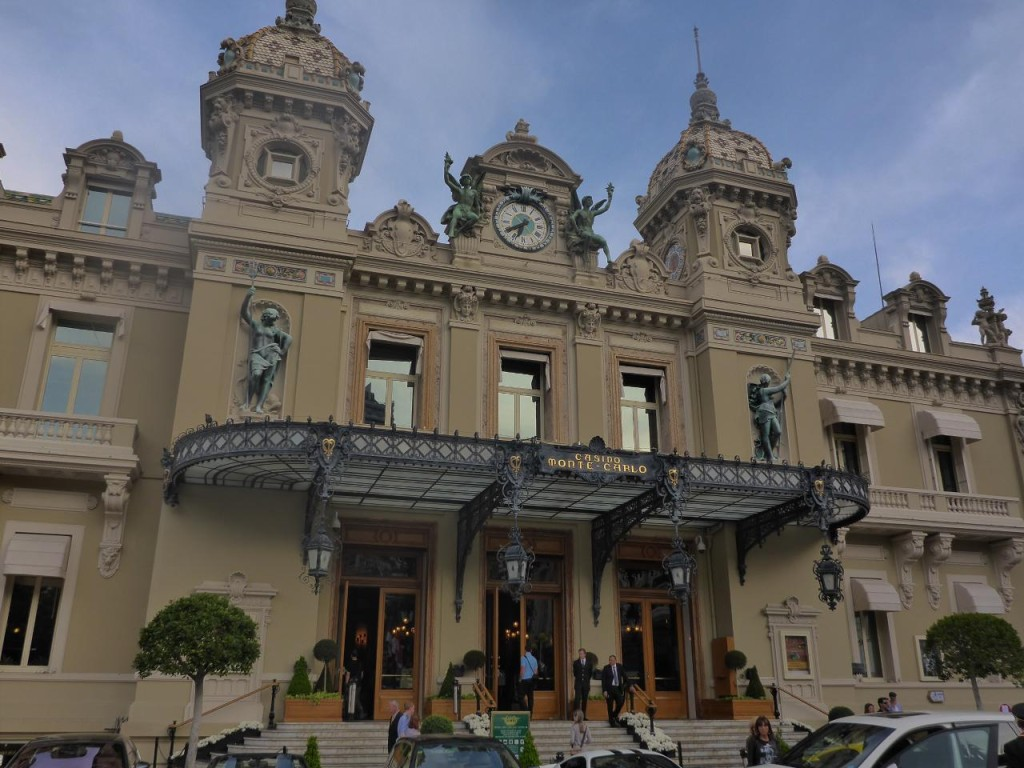 with the Monte-Carlo Casino on the other side. We looked for James Bond.