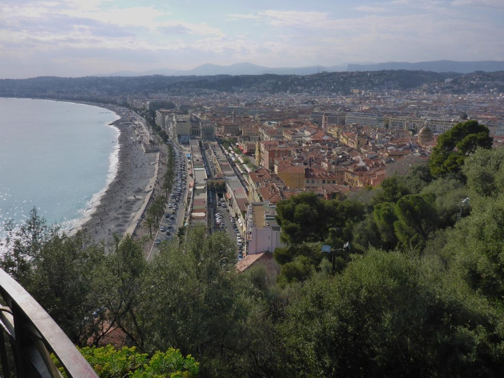 We walked up into an old castle for this view of Nice and old town.