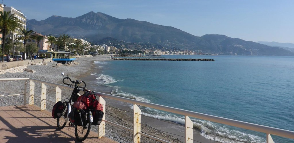 Menton, France on a beautiful day.