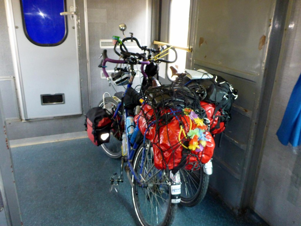 The next day, Monday, the strike was over so our bikes had a rest from there to Venice. Both train rides totaled 140 miles.