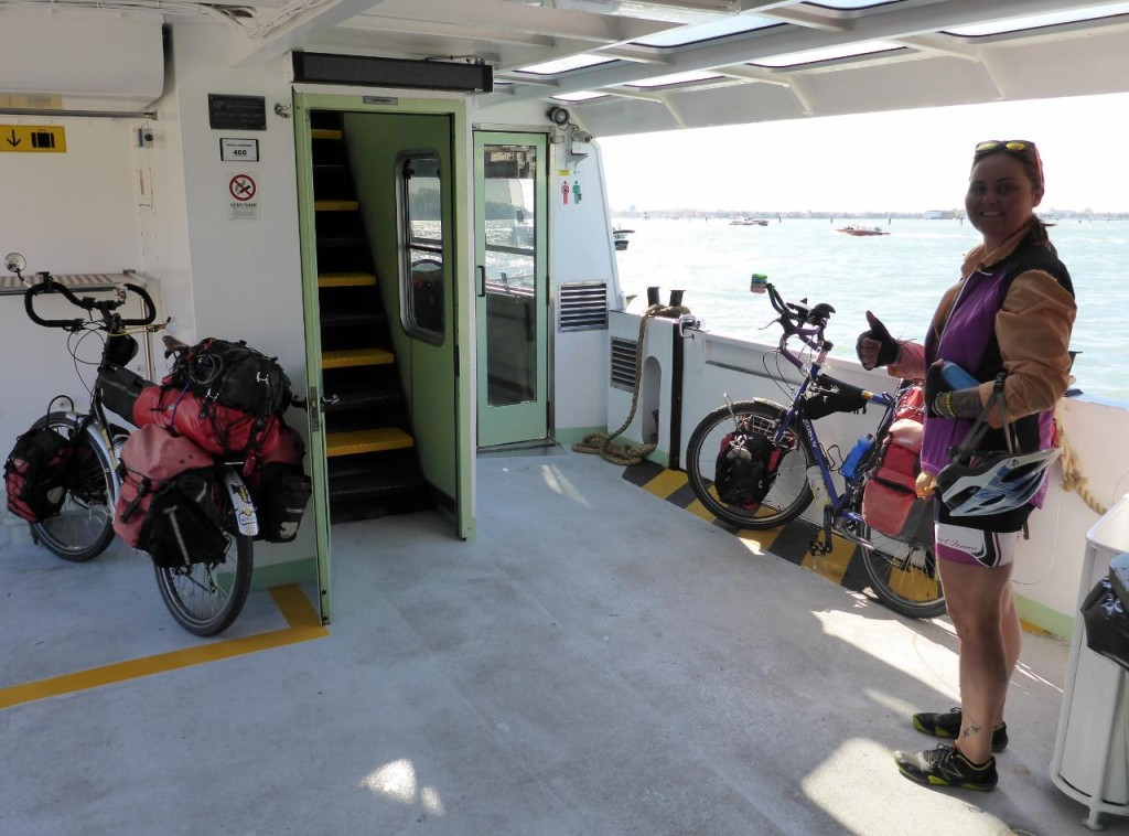 Finally on the ferry for a 5 mile ride off the island.