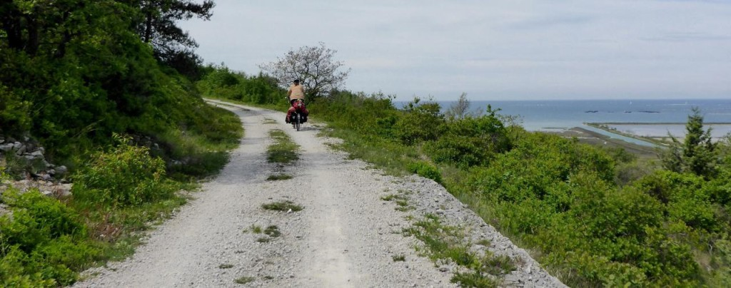 Our first bike path in Croatia.