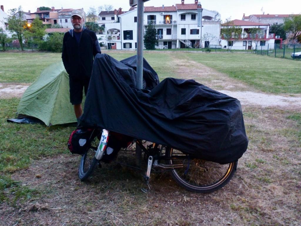 Camping in Funtana, Croatia.