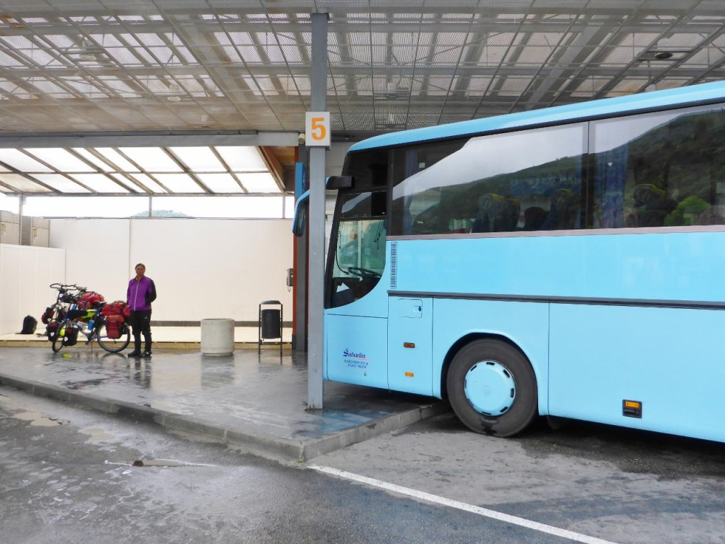 The bus station in Dubrovnik.