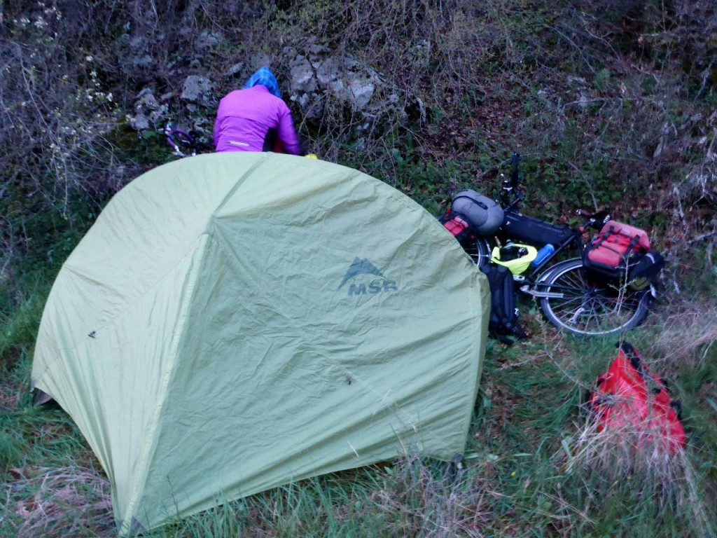 Wild camping.