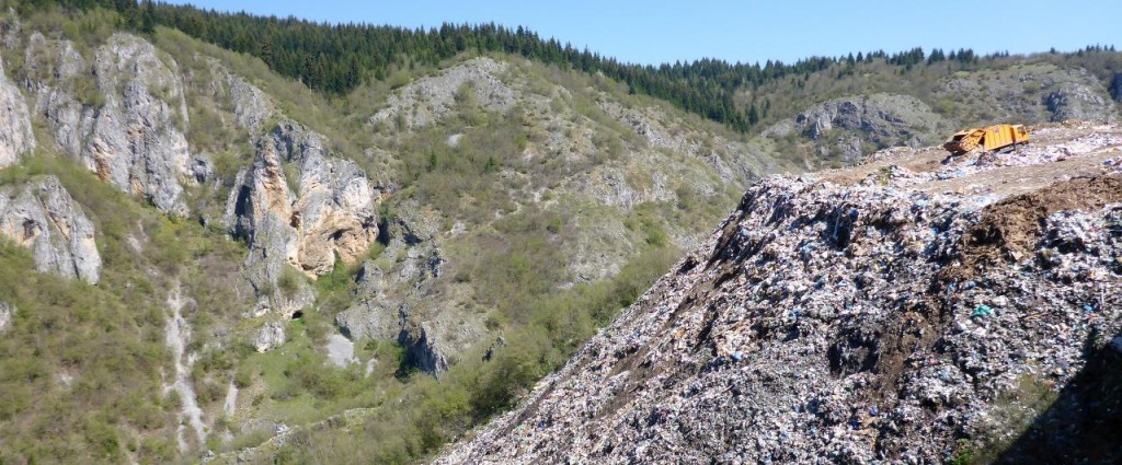 The morning was disrupted when we rode by this dump. Trash is pushed down into the gorge. How disturbing.