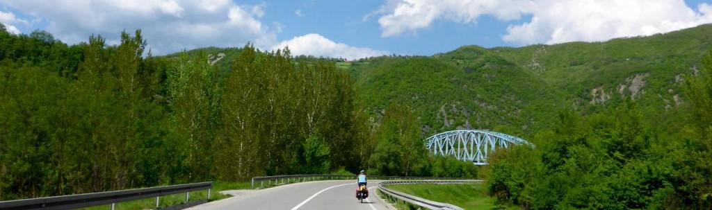 Riding through the valleys.