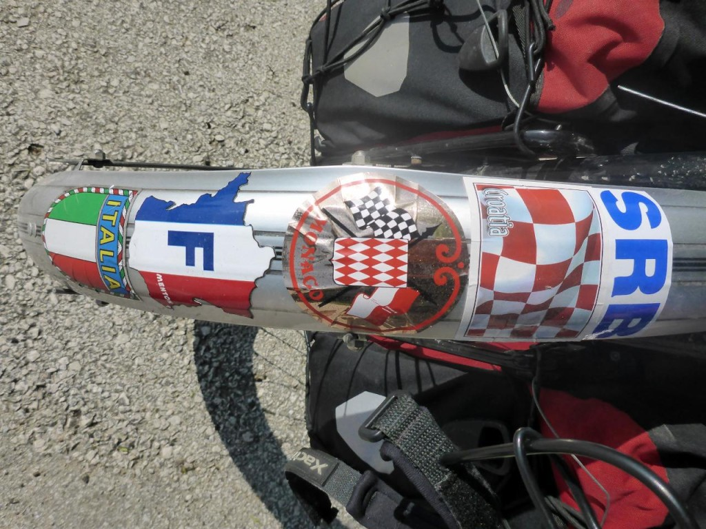There were several Serbs that didn't like that I put the Serbian decal next to Croatia. Some even got a little nasty about it and wanted me to remove the Croatia sticker. Once I said that SRB was above Croatia it was okay