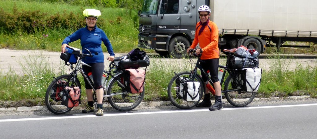 We met a Swiss couple heading the opposite way.