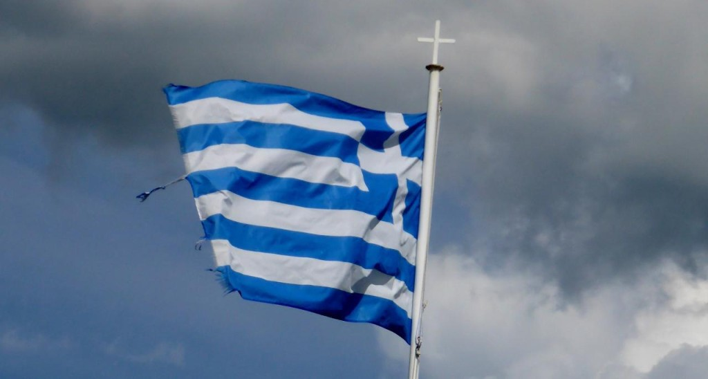 There are more flags flying in Greece than any of the other countries we have visited.