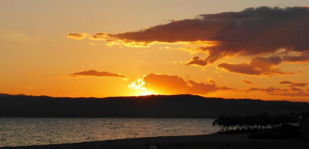 A beautiful Greek sunset.