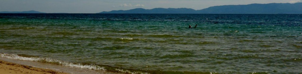 Swimming in the Aegean Sea.
