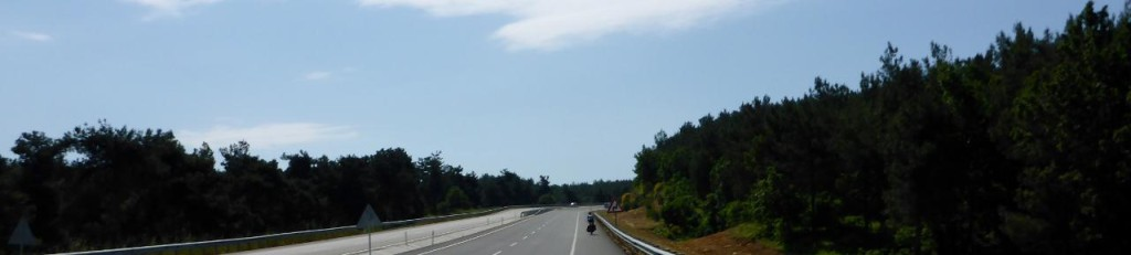 Into the Turkey mountains. What a great ride.