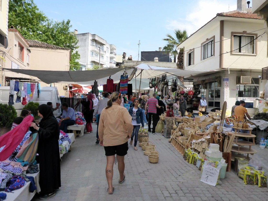The local Saturday bazaar.