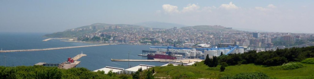 The port city of Bandirma, Turkey about 80 ferry miles from Istanbul.